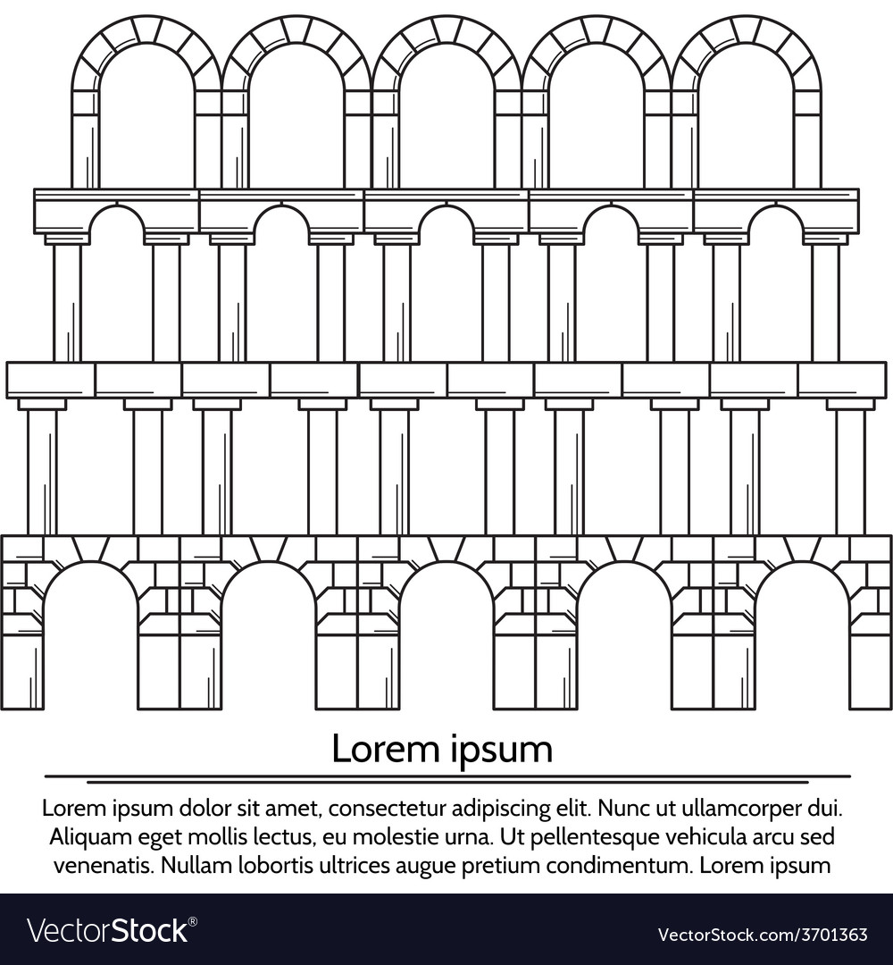 Line design arch structure