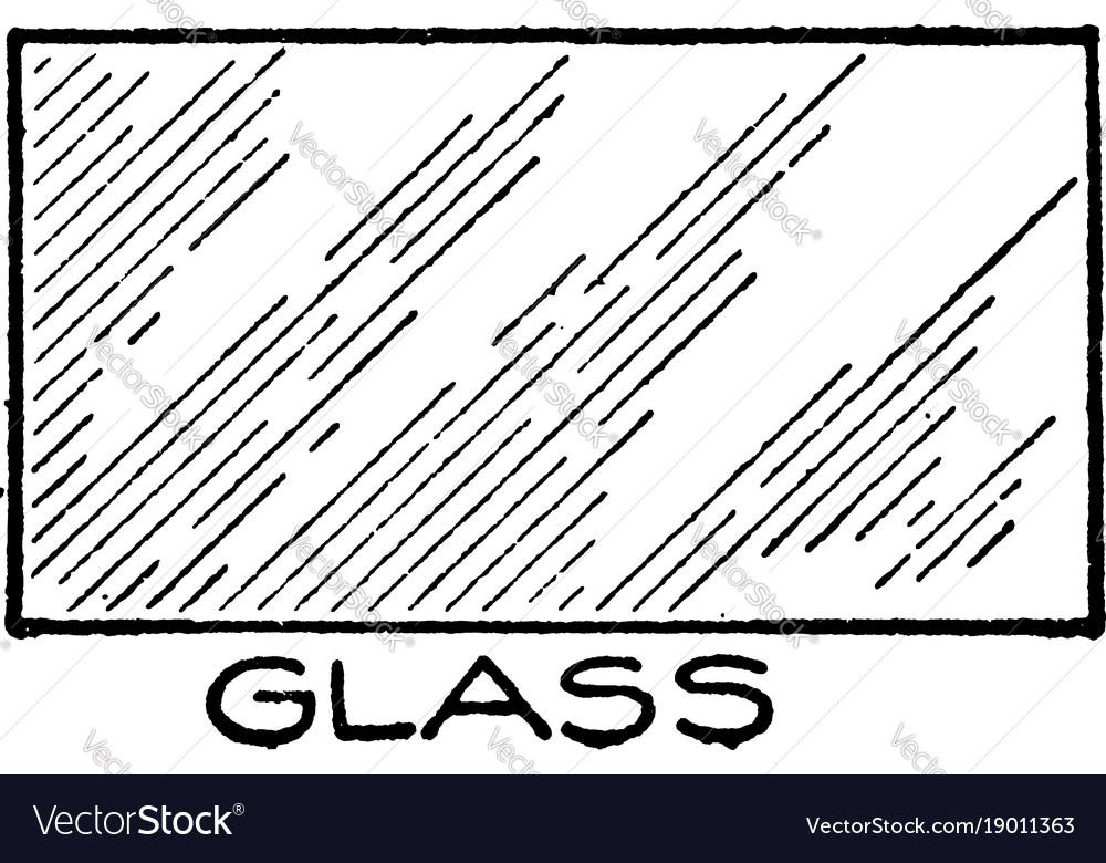 Mechanical drawing cross hatching of glass