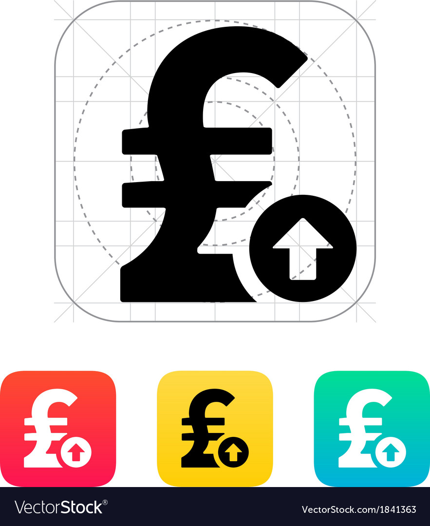 Pound sterling exchange rate up icon