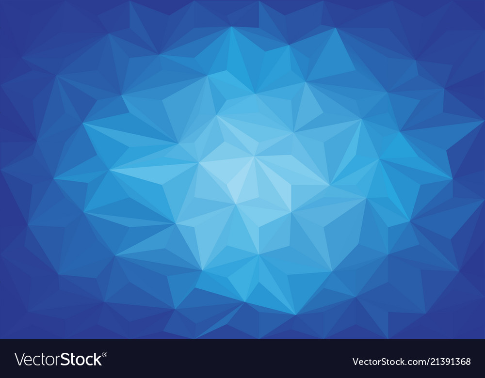 Abstract Blue Light Triangle 3d Low Polygon