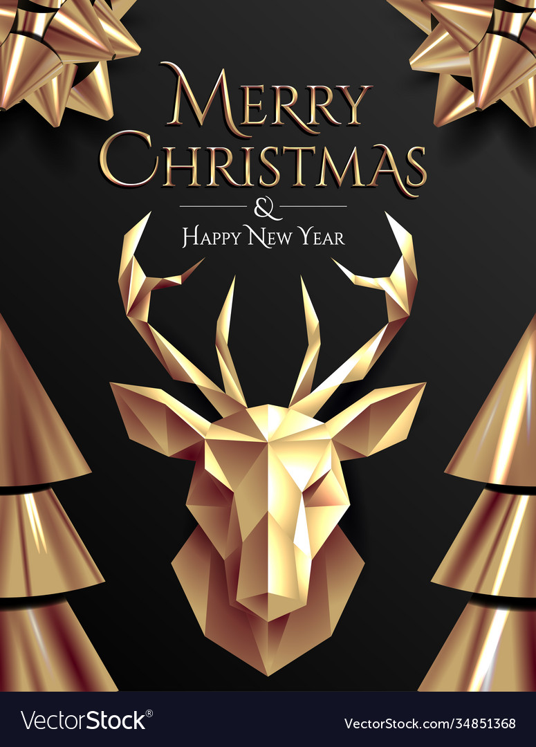 Christmas poster or flyer or card design template