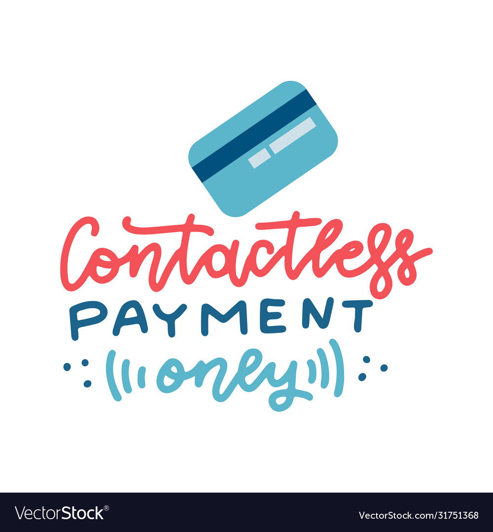 Credit bank card and lettering quote contactless