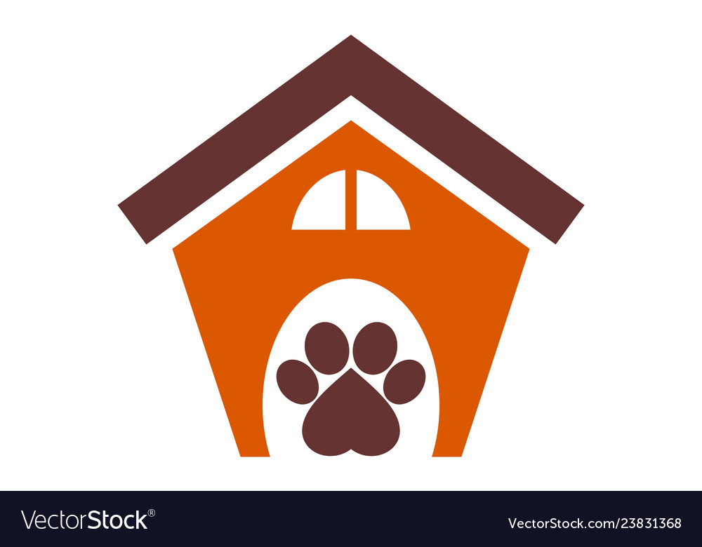 Dog house concept logo icon