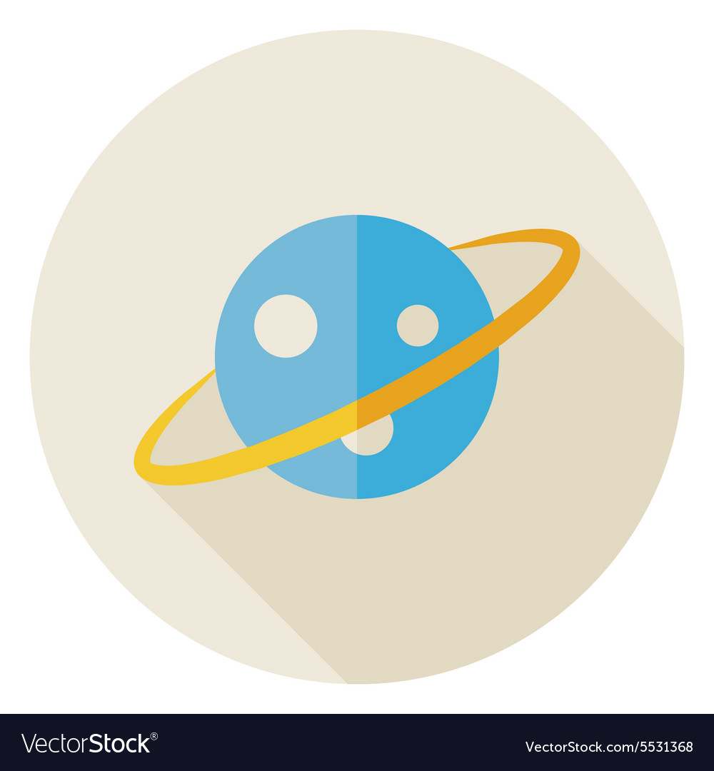 Flat Science Astronomy Space Planet Circle Icon