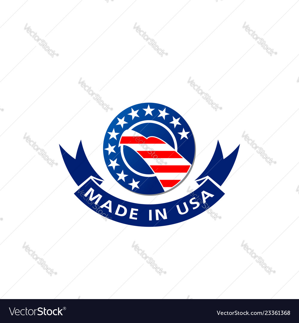 Made in usa american flag and eagle icon