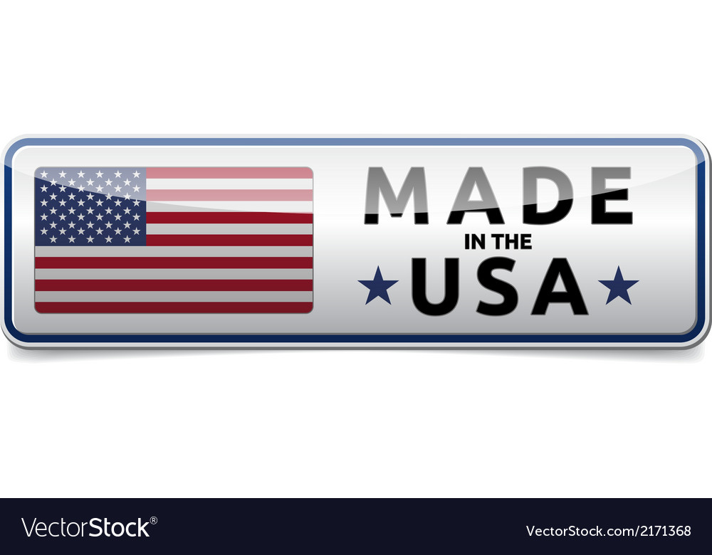 Made in USA flag button banner vector image
