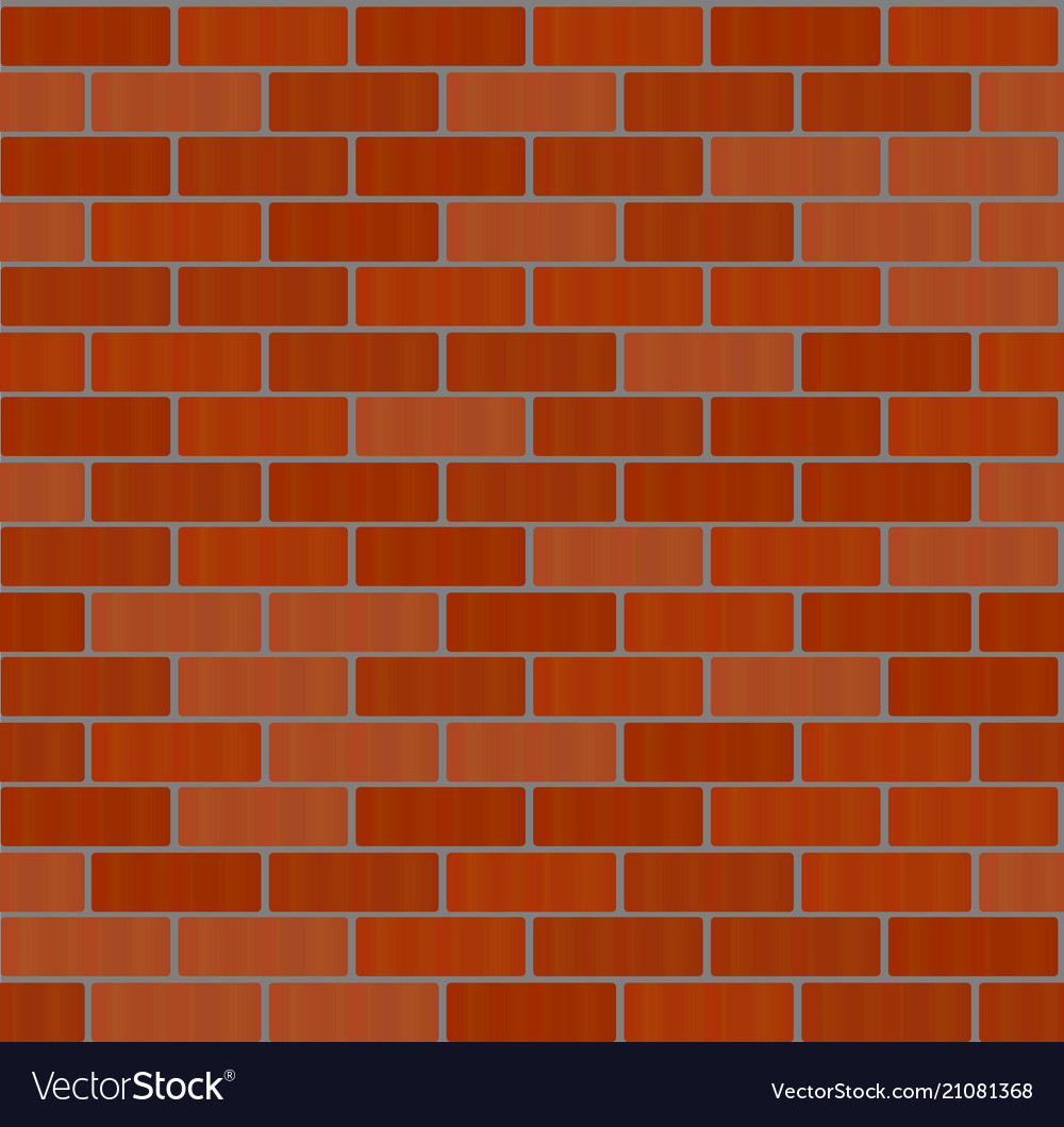 Red brick wall icon isolated on background modern