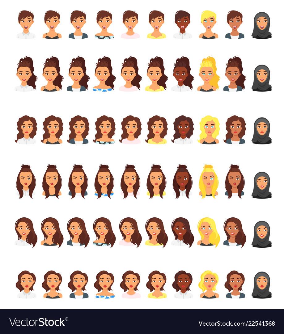 Set of people avatar