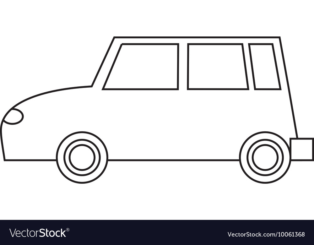 Simple Car Icon Royalty Free Vector Image Vectorstock