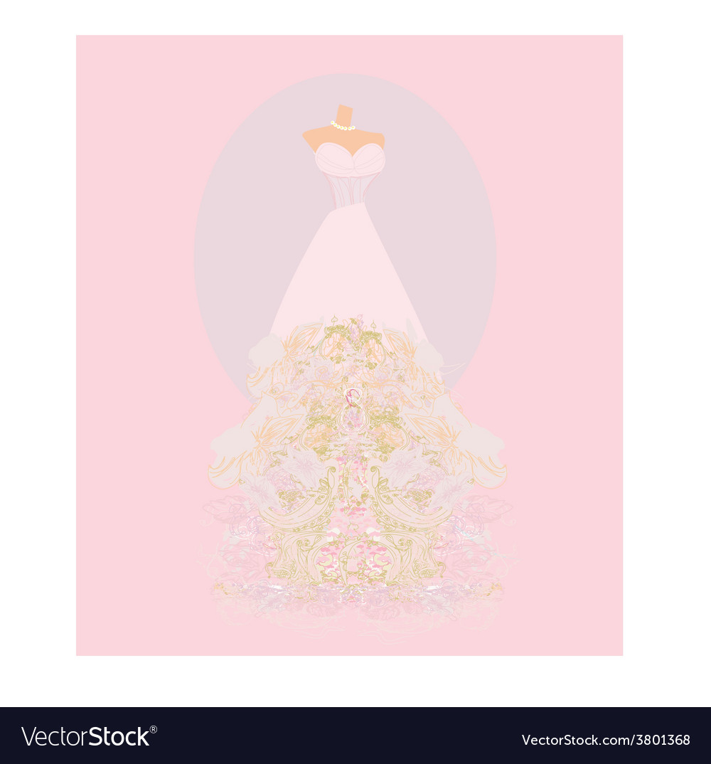 Wedding dress for Wedding invitations vector image