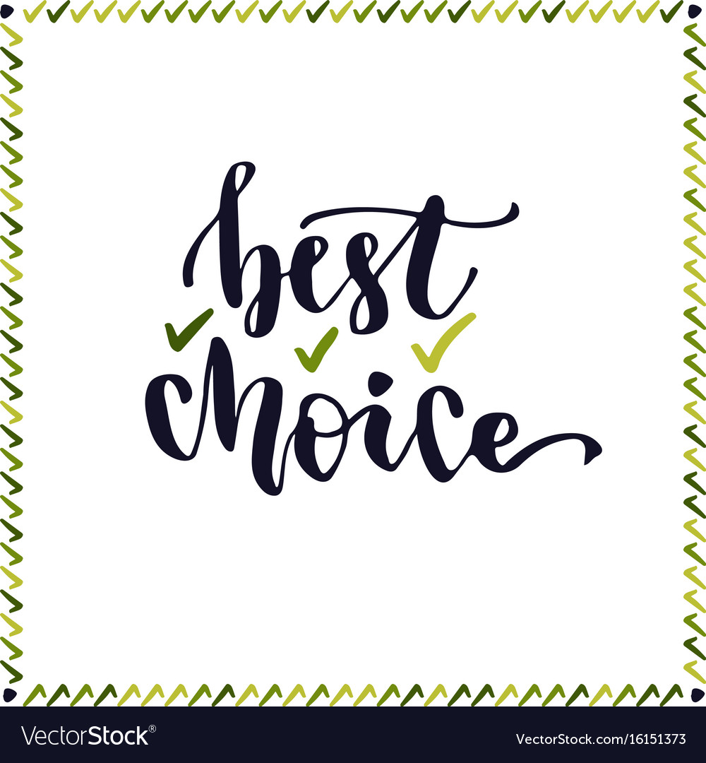 Best choice lettering handwritting letter cute
