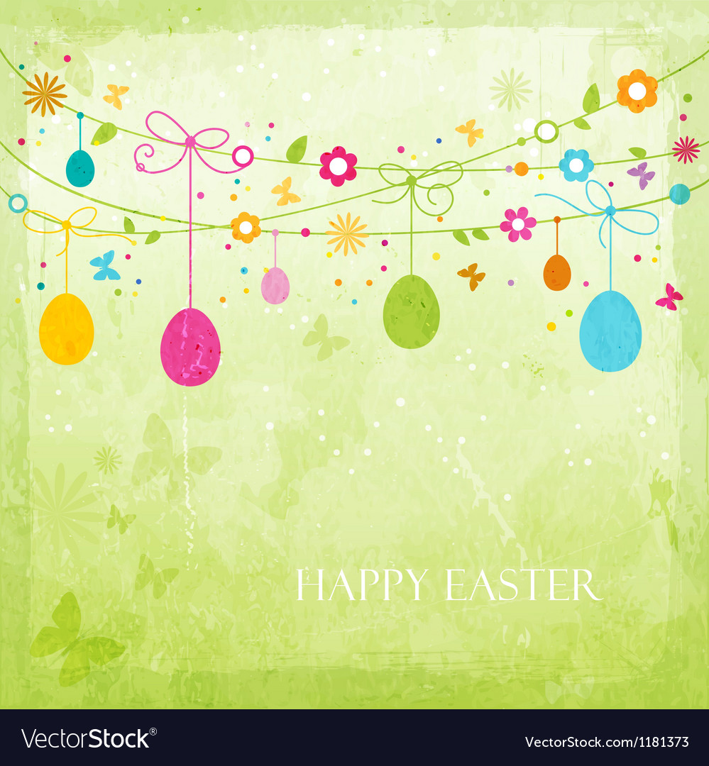 Colorful Happy Easter design