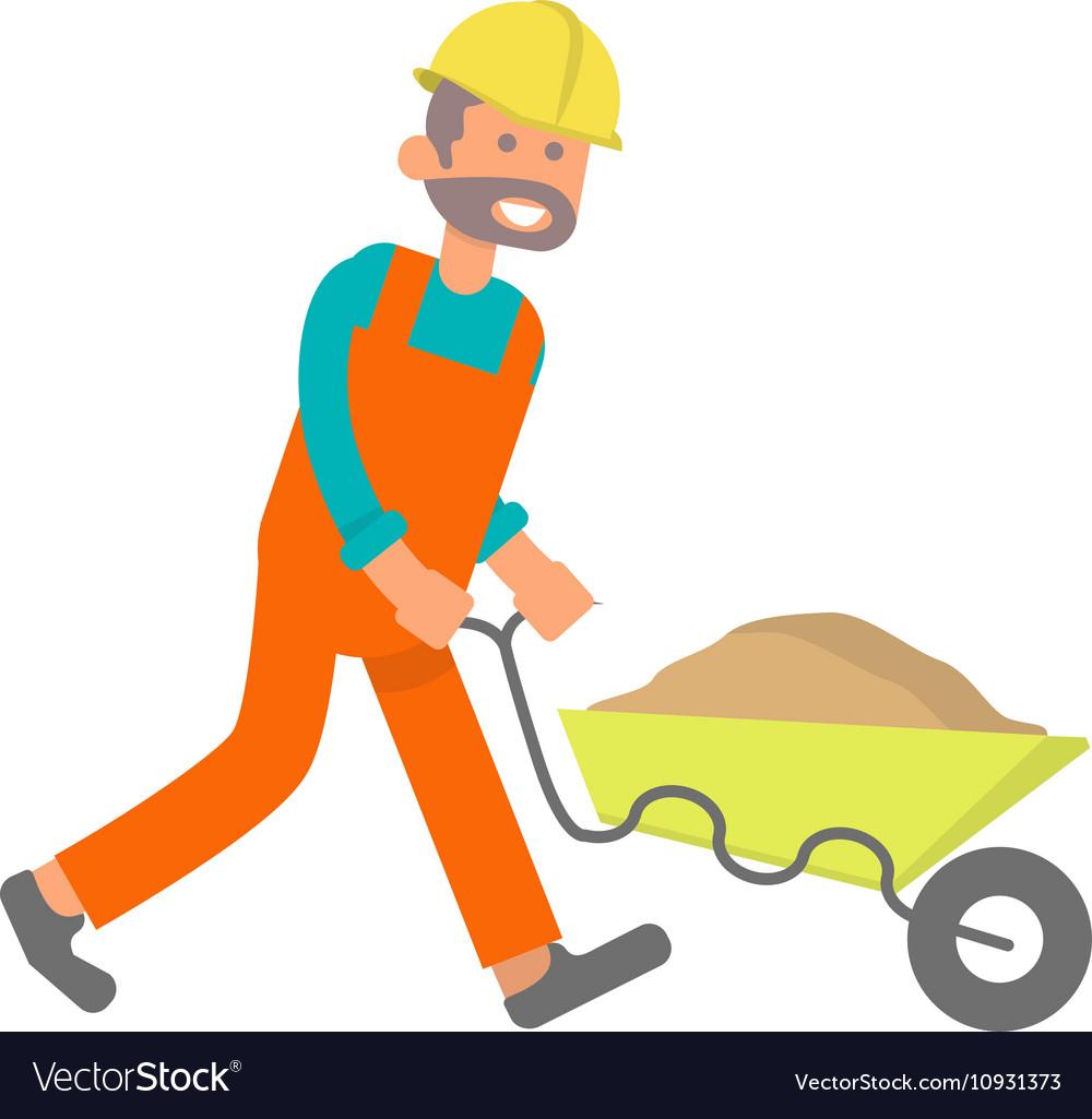construction worker laborer vector image