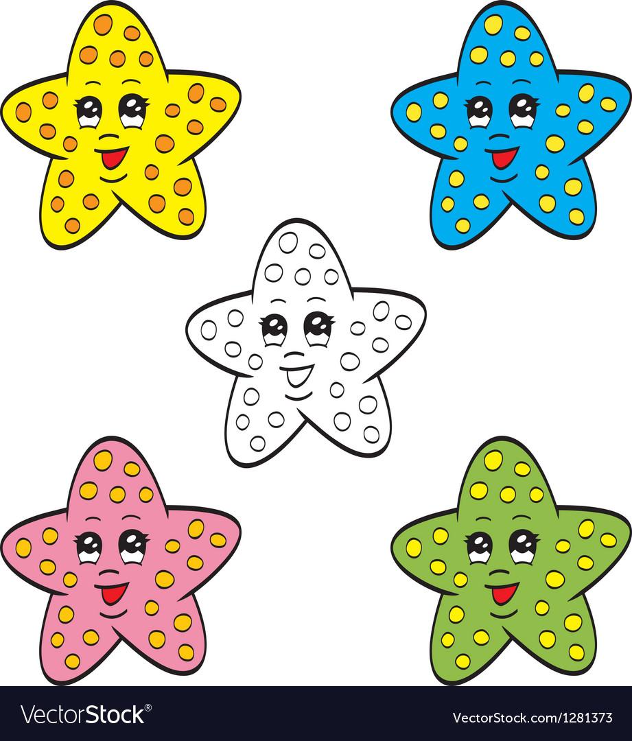 Cute starfish vector image