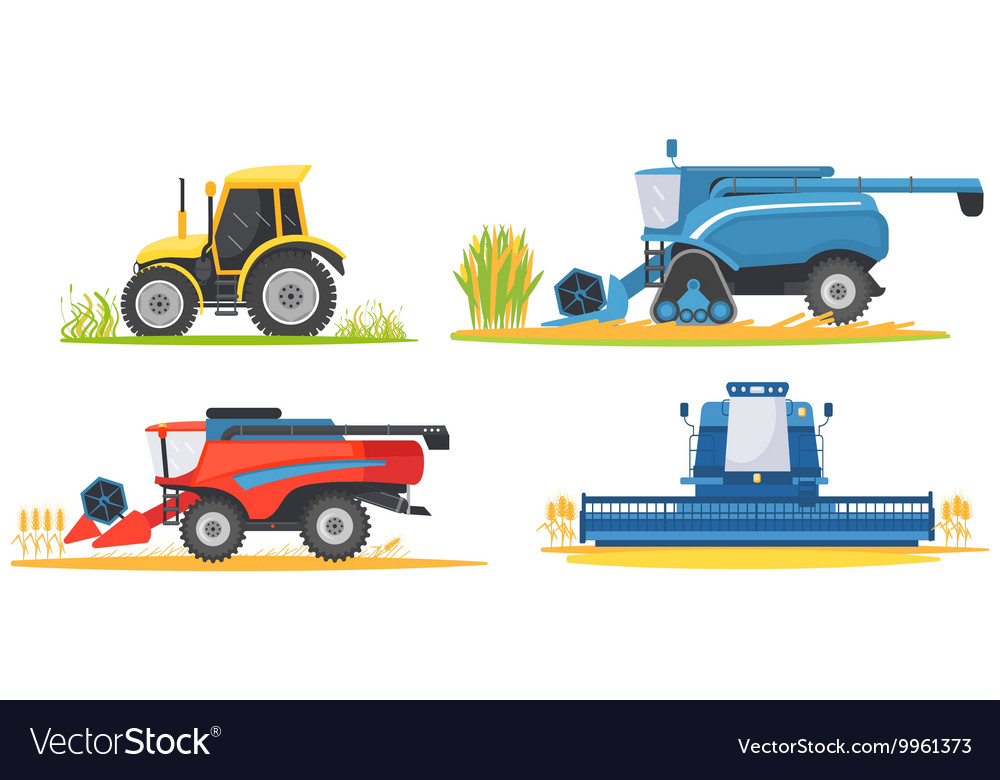 Farming agricultural machines and farm vehicles