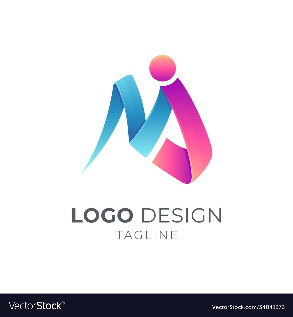 Letter m j logo