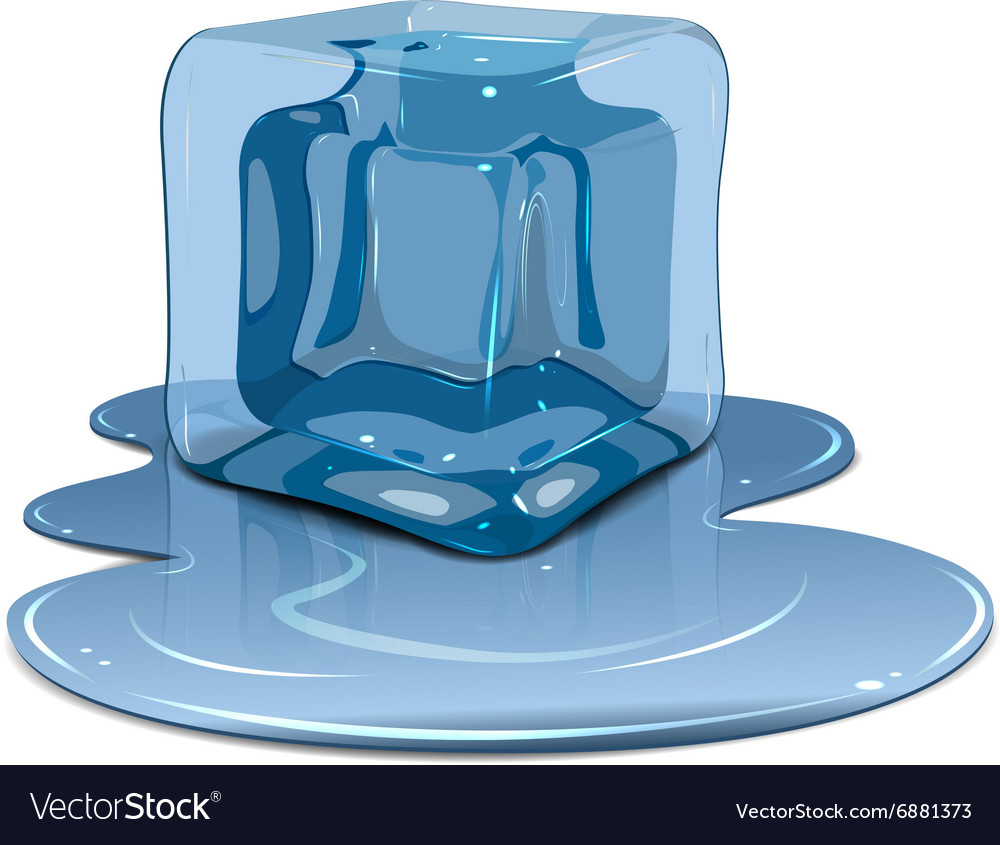 melting ice cube royalty free vector image vectorstock vectorstock