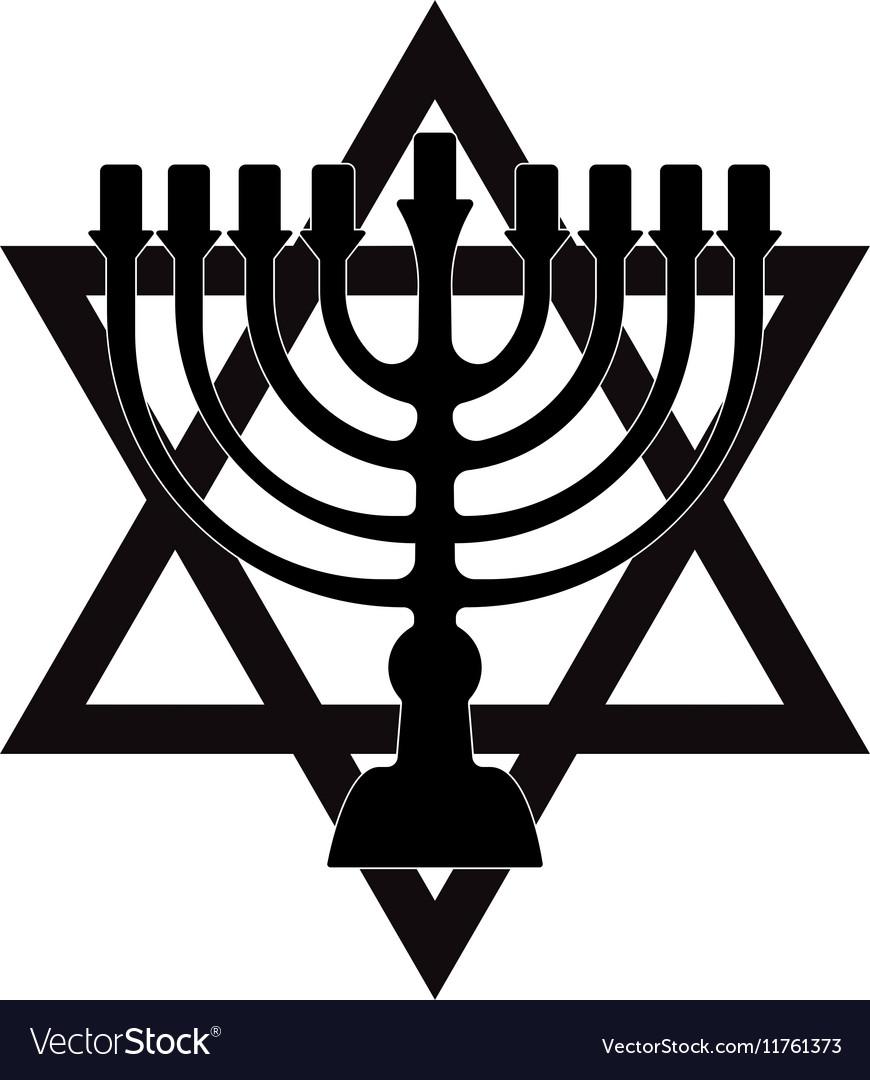 Menorah Symbol Of Judaism Isolated Royalty Free Vector Image