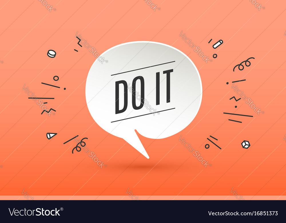 Motivation positive poster do it