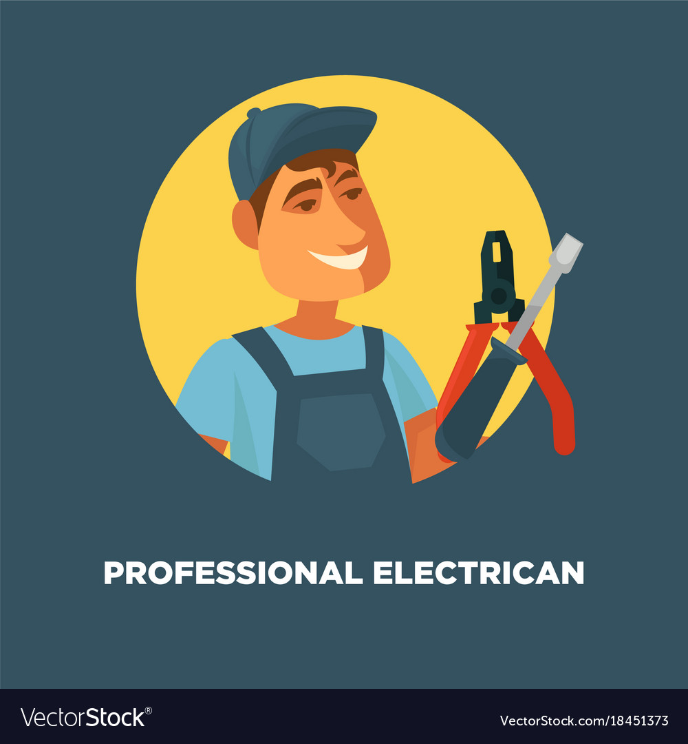 Professional electrician service promotional