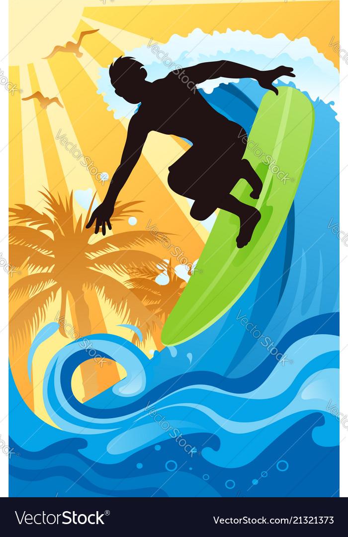Surfer in the ocean
