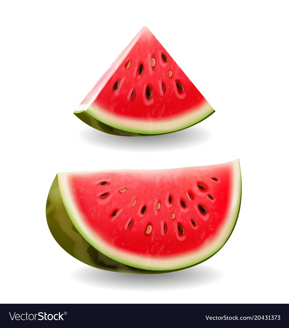 Watermelon realistic icon