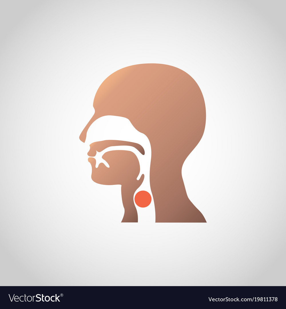 A lump in the throat icon design