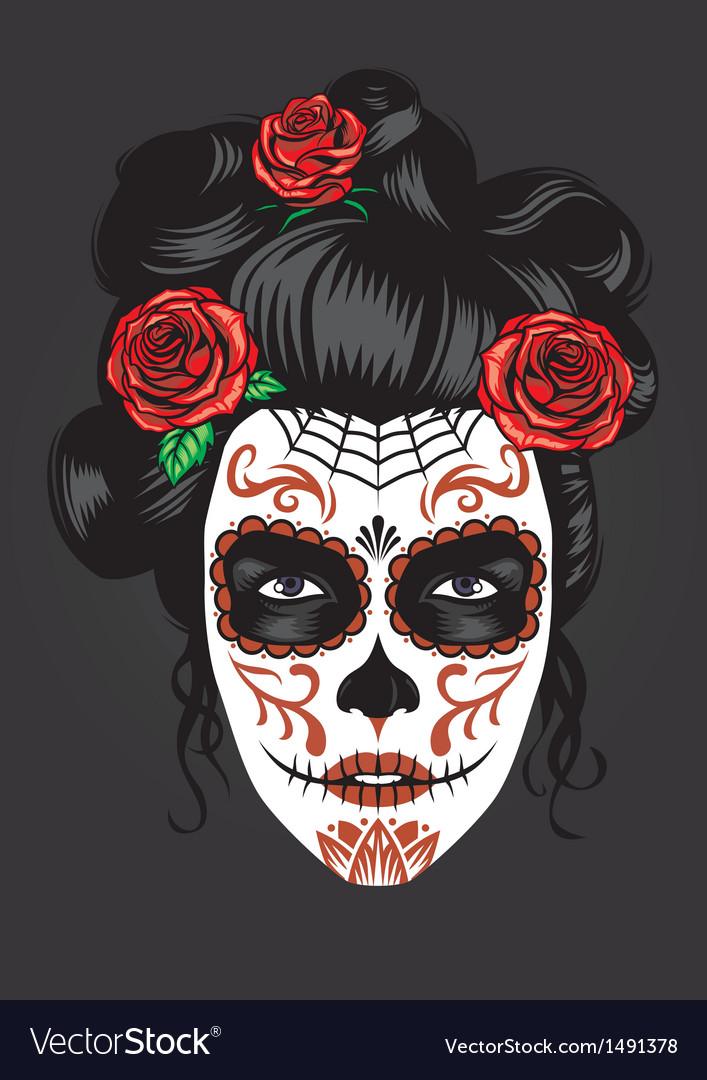 Day dead girl make up