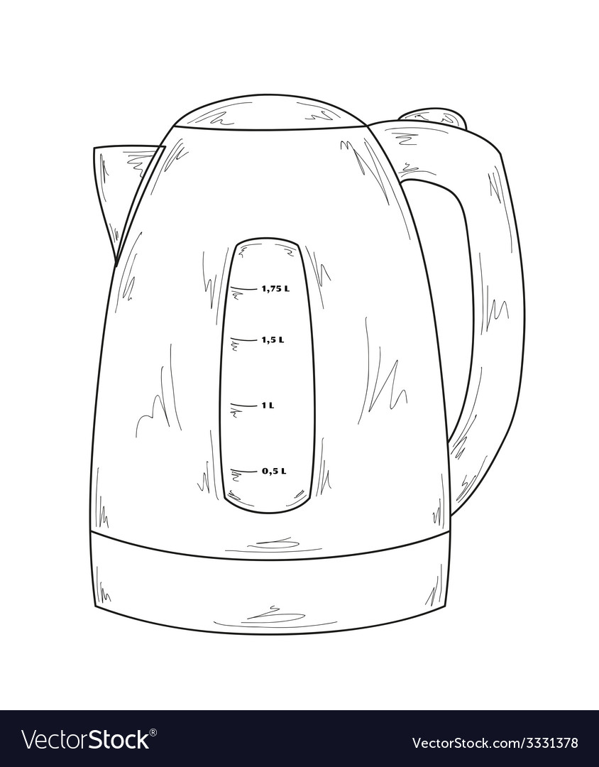Electric kettle Royalty Free Vector Image - VectorStock