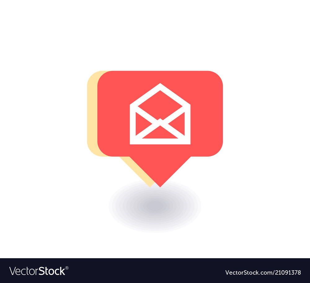 Envelope mail icon symbol in flat style