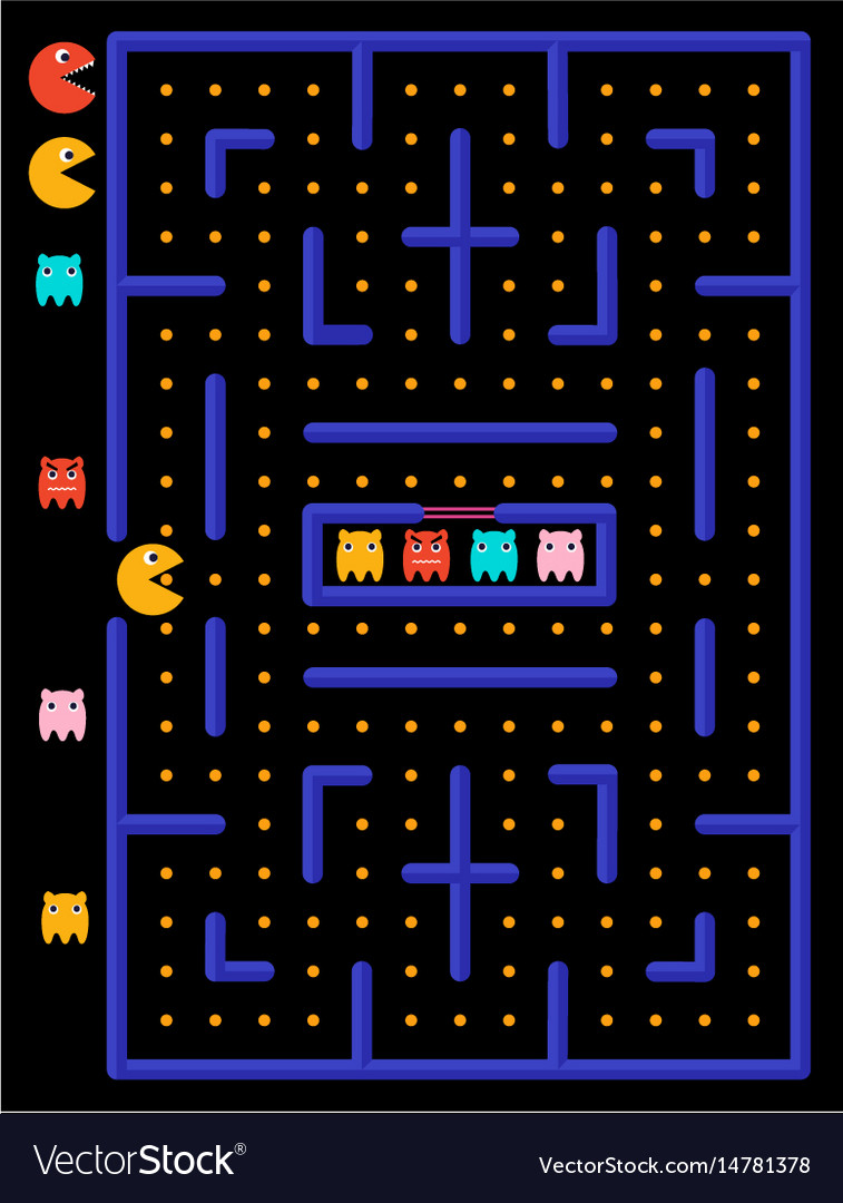 Game maze with ghosts