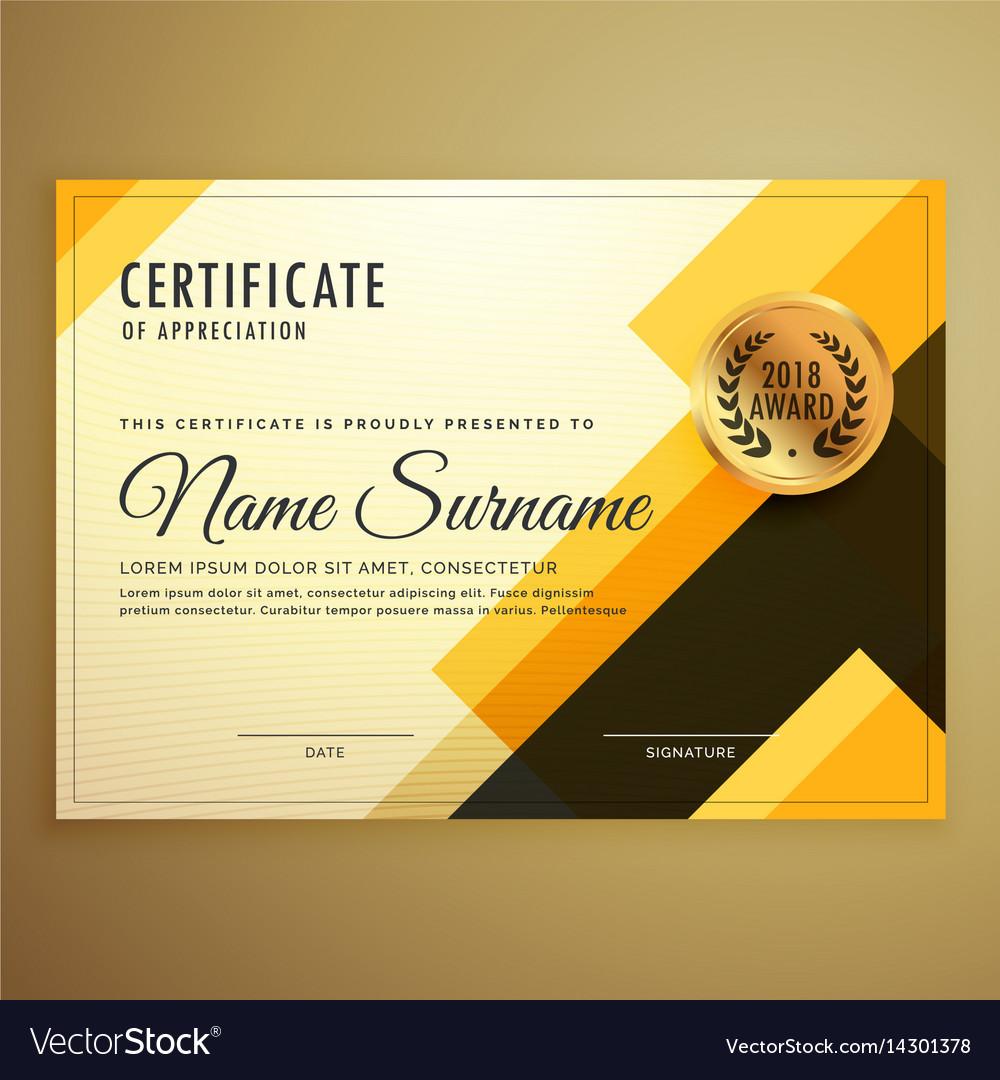 Creative Certificate Sample Design Free Template Ppt Premium Download 2020