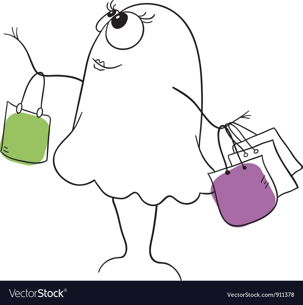 Shopper vector image