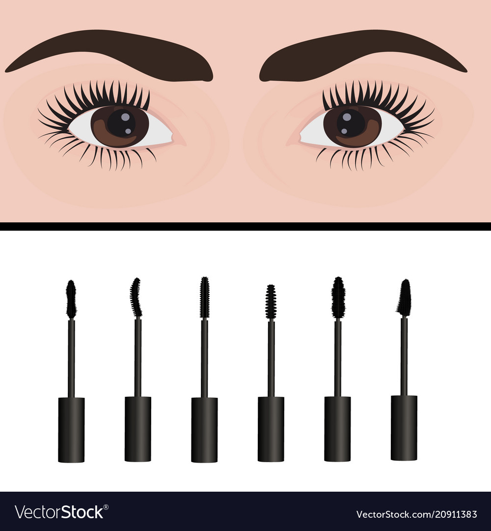 A girls eyes and types of mascara