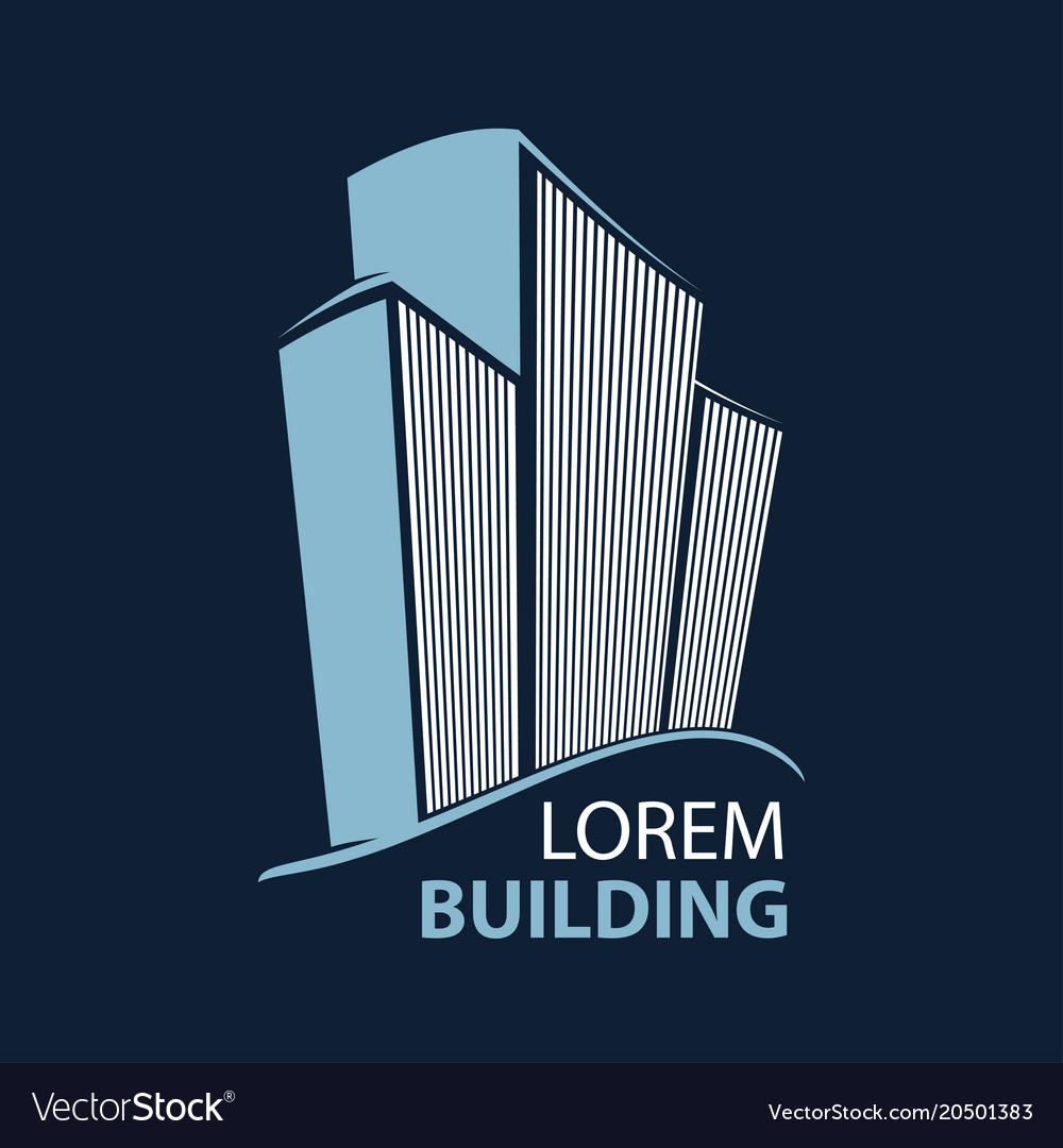 Building symbol architecture business vector image