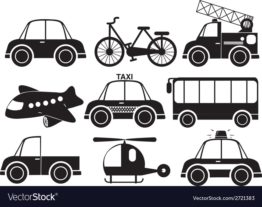 Different Type Of Vehicles Royalty Free Vector Image