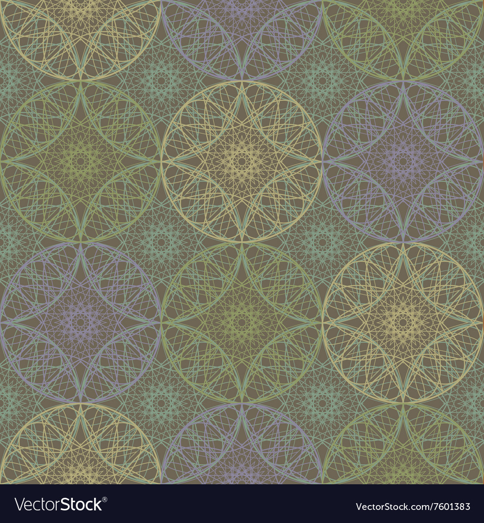 Gentle light seamless geometrical pattern Lace vector image
