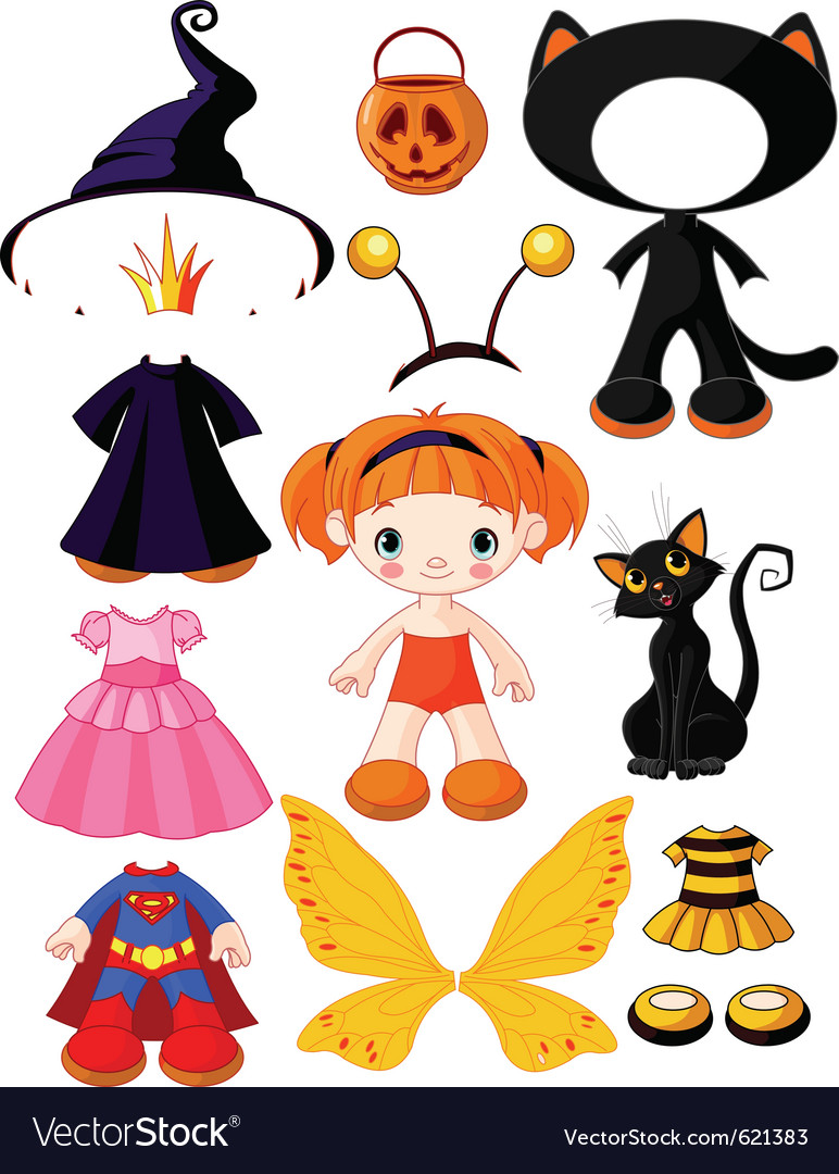Halloween doll with dresses