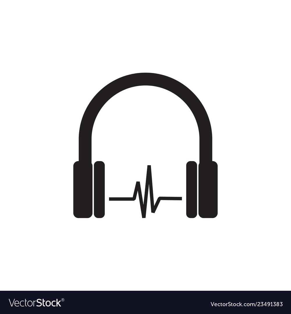 Headphone icon graphic design template