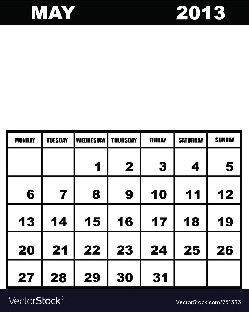 May Calendar Vector : May calendar vector art download month vectors
