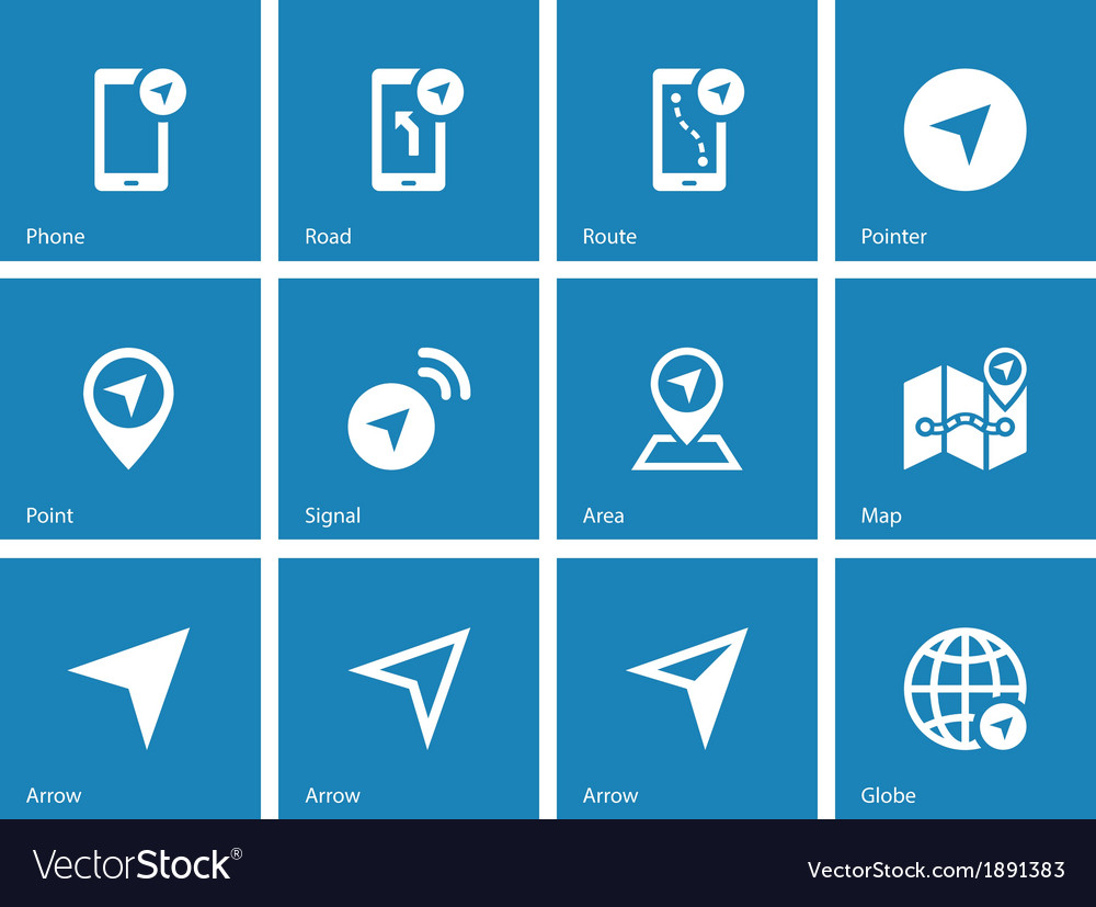 Navigator icons on blue background