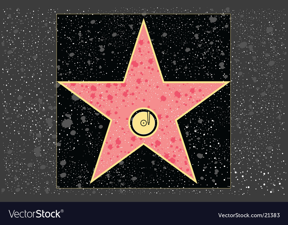 Recording star vector image