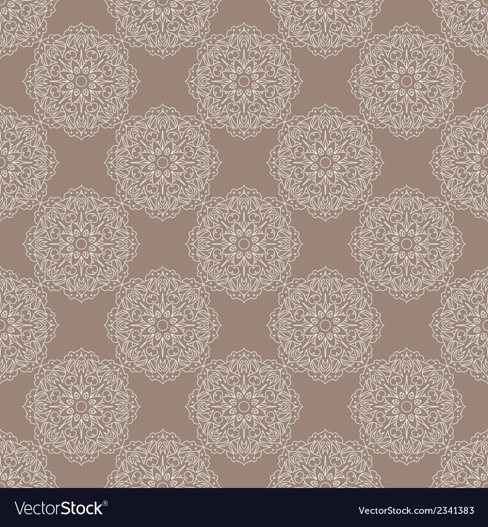 Seamless vintage pattern with floral ornament