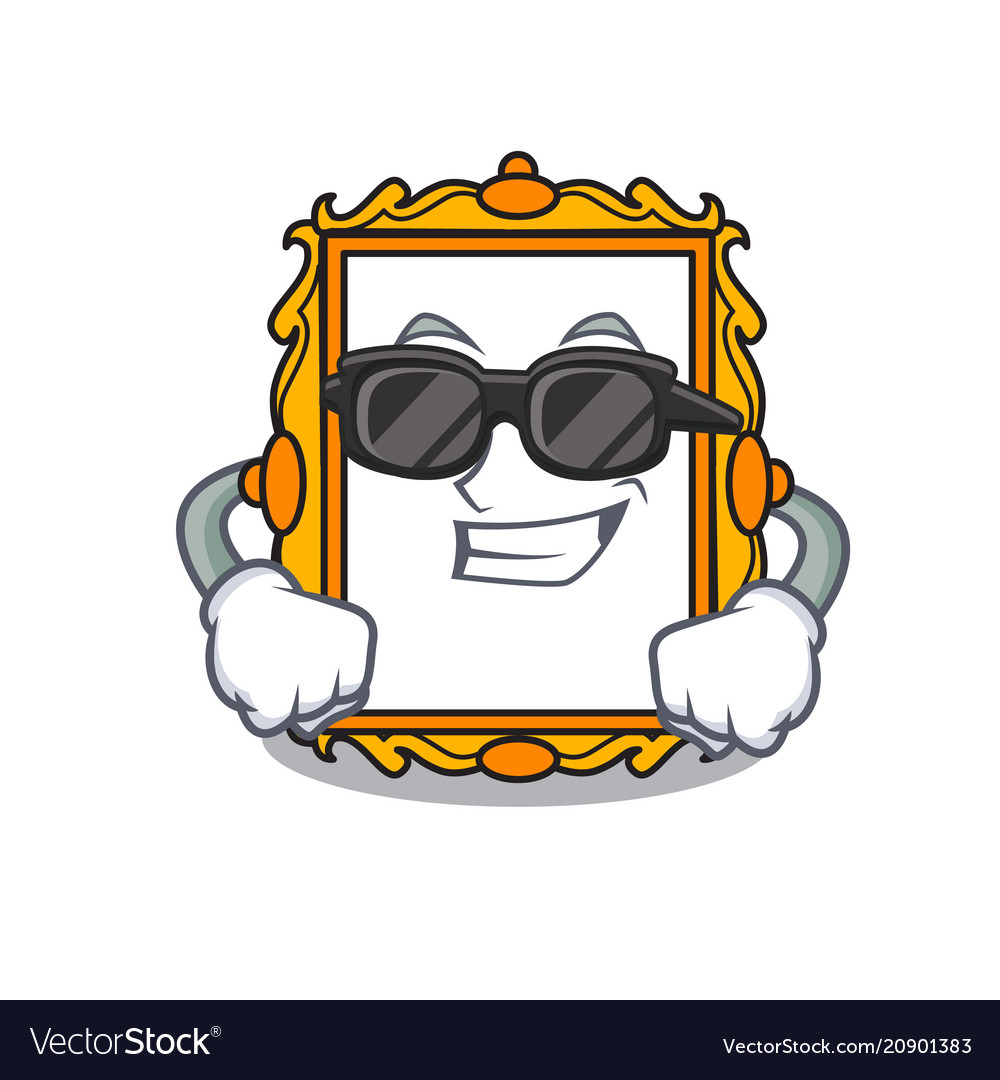 Super cool picture frame character cartoon Vector Image