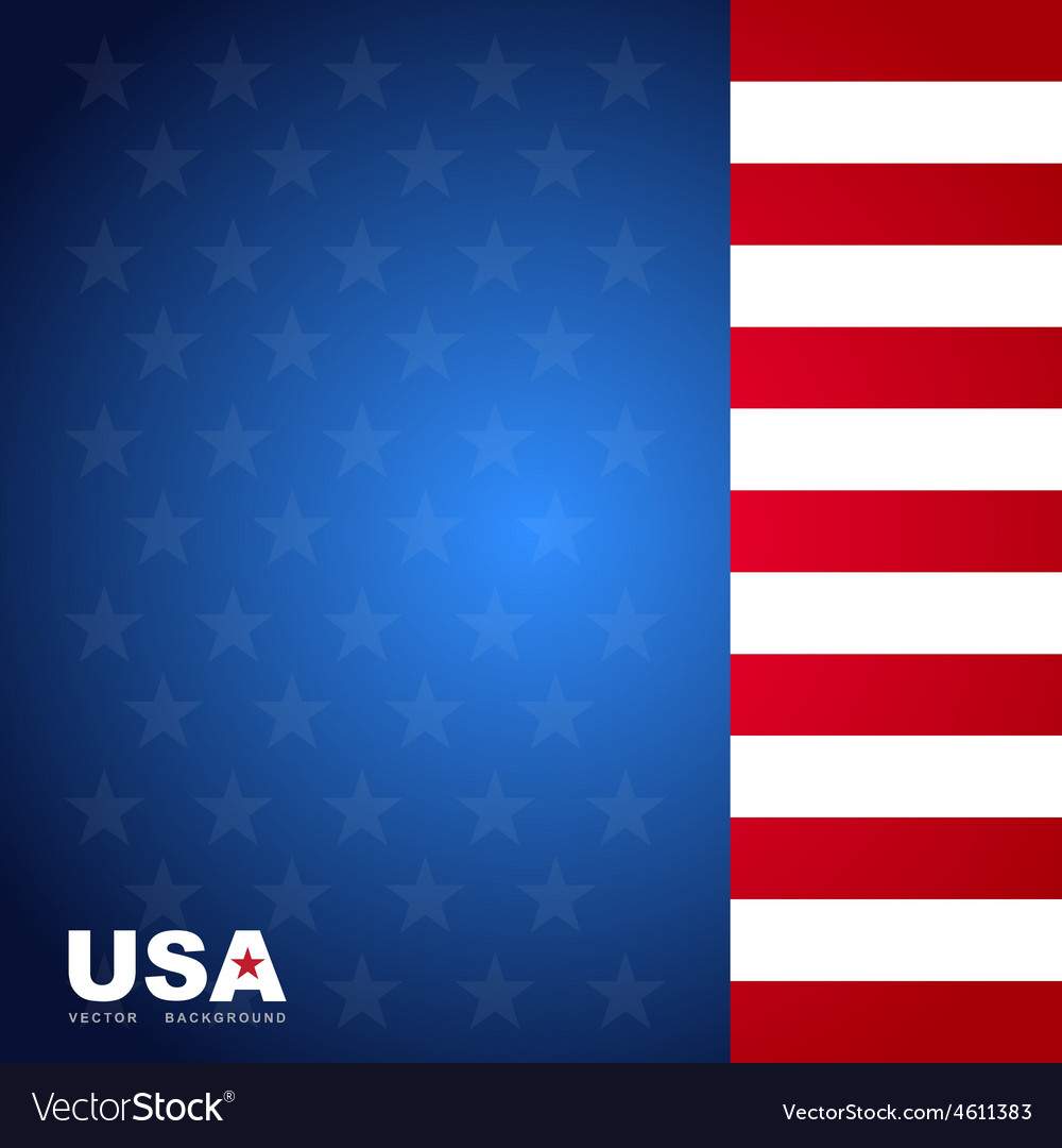 Usa Flag Color Background Royalty Free Vector Image