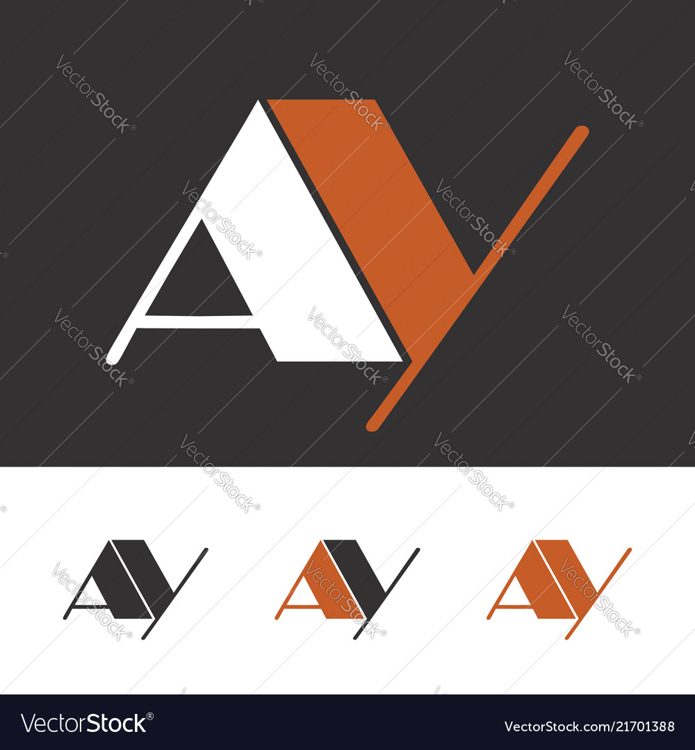 A and y initial letters creative logo template