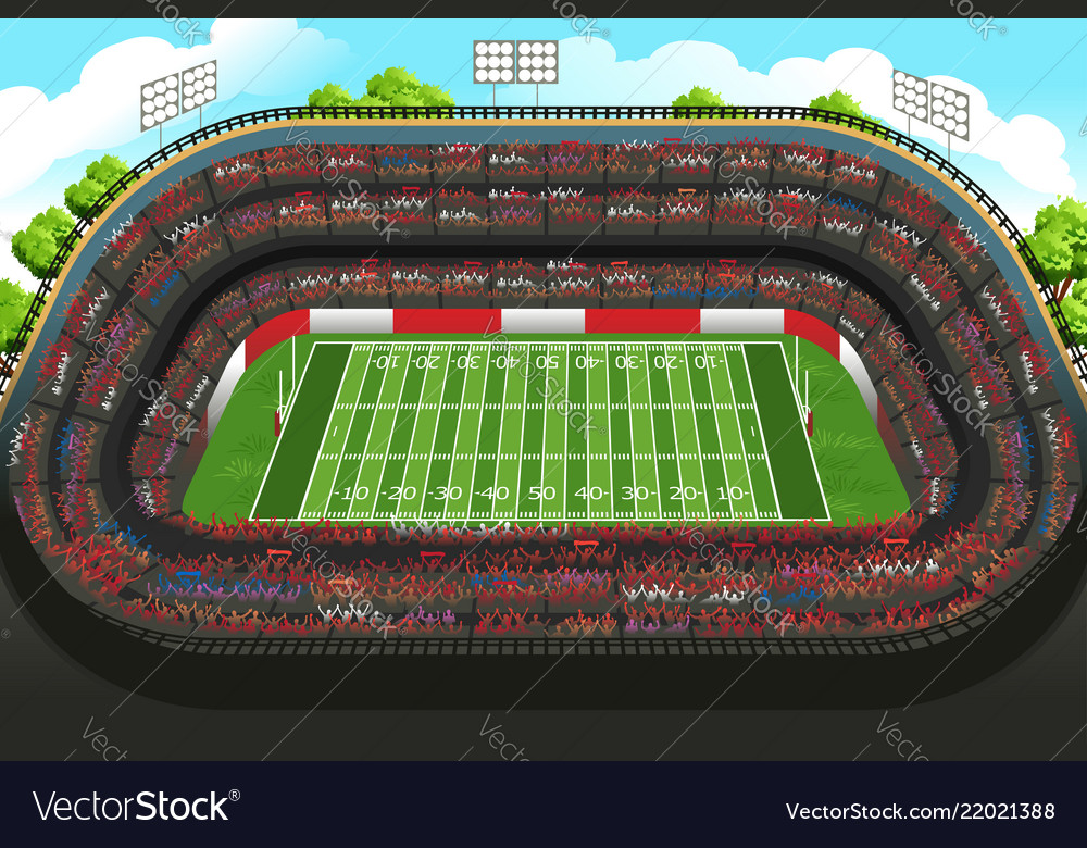 background of an empty american football stadium vector image vectorstock