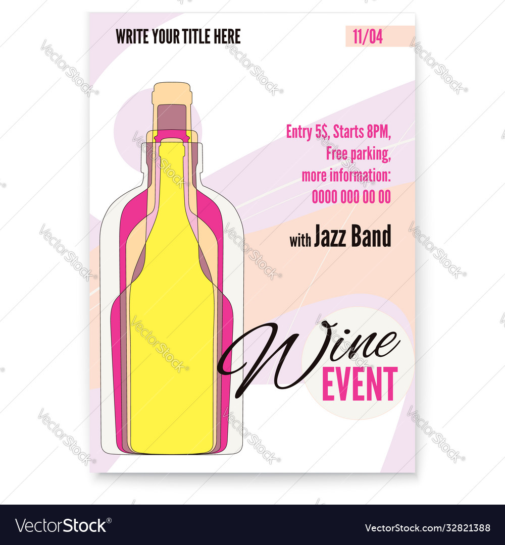 Banner for wine festival event or menu covers
