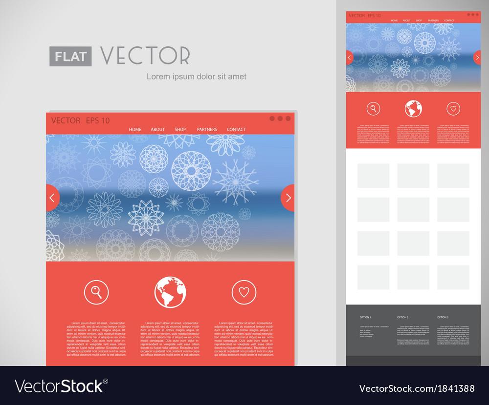Flat Website Design Template vector image