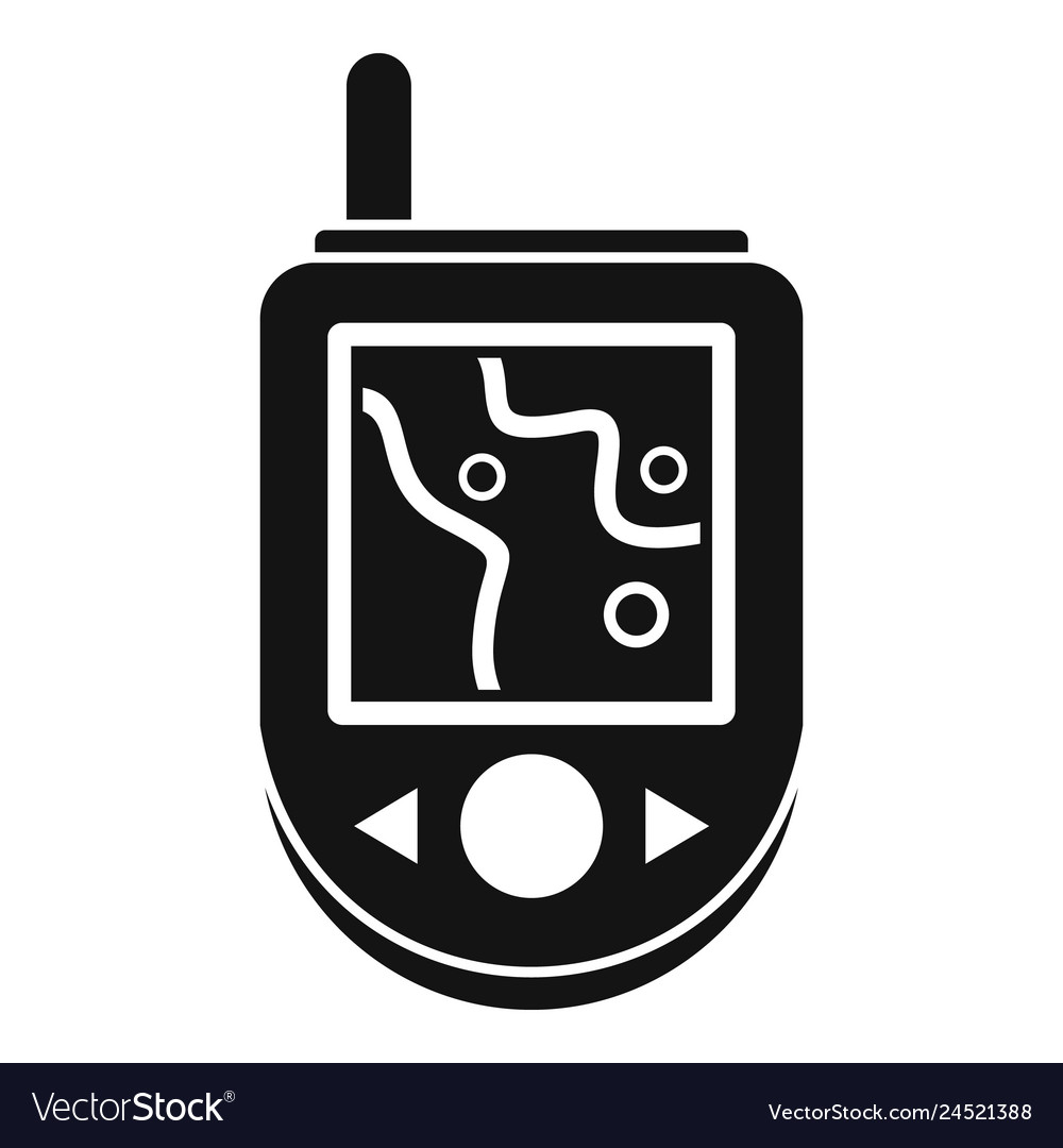 Gps device icon simple style